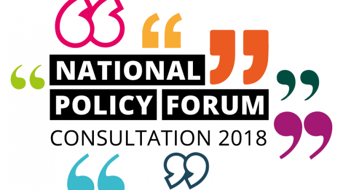 2018 National Policy Forum Consultation