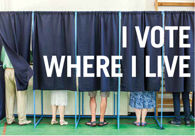 Vote where you live